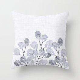Japanese Woodblock Botanical Throw Pillow