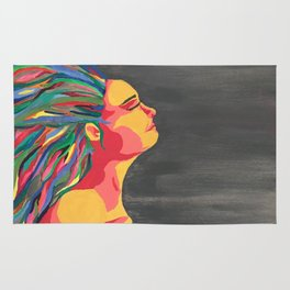 Girl with the Colored Hair Rug