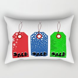 Christmas Tags Rectangular Pillow