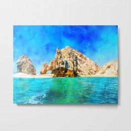 El Arco Cabo, Mexico Beach Metal Print