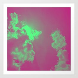 Radiant Clouds Art Print