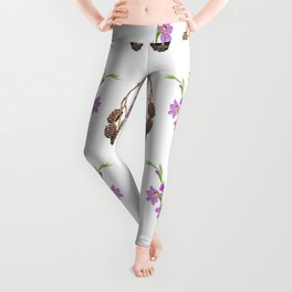 Pattern of forest fruits and flowers Leggings
