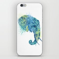 Elephant Head II iPhone & iPod Skin