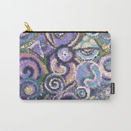 Textured Circles Carry-All Pouch