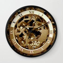Steampunk Clocks  Gold Gears Mechanical Gifts Wall Clock
