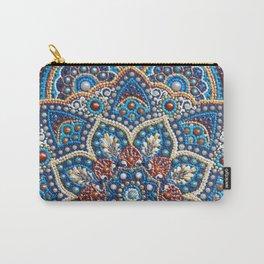 Blue dot art mandala Carry-All Pouch