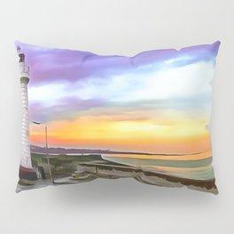 Donaghadee Lighthouse, Ireland. (Painting) Pillow Sham