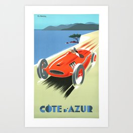 Cote d'Azur Speeder Art Print
