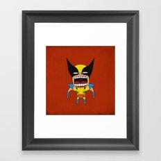 Screaming Wolverine Framed Art Print