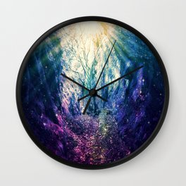 Light At The End of the Tunnel : Deep Pastels Wall Clock