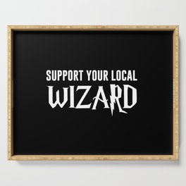 Support Your Local Wizard Serving Tray