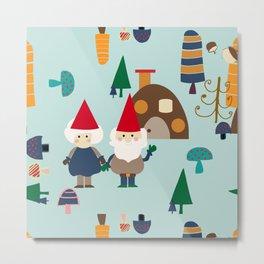 gnome blue Metal Print