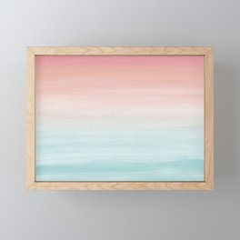 Touching Watercolor Abstract Beach Dream #1 #painting #decor #art #society6 Framed Mini Art Print