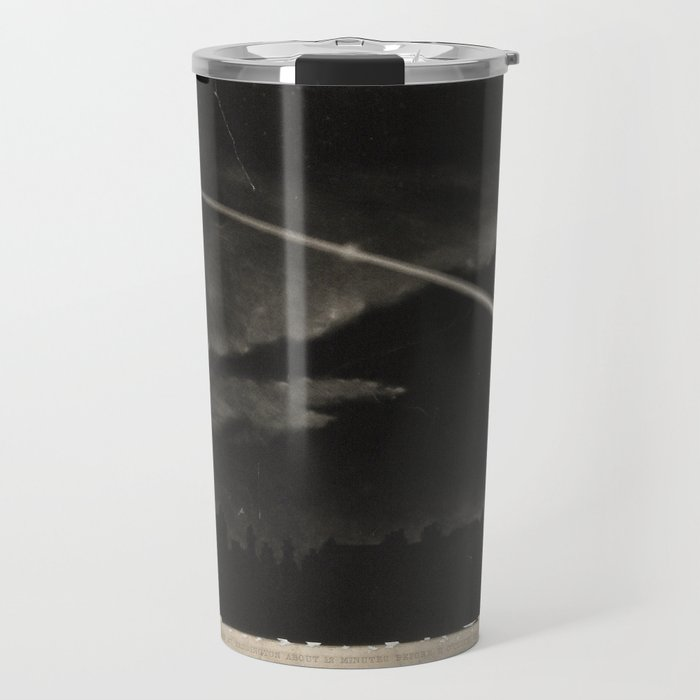 Wood engraving of a comet in the night sky (c. 1860) Travel Mug
