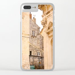 Terrace in Old Town Europe #decor #society6 Clear iPhone Case