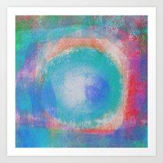 Bright Blue Note Art Print