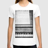 piano T-shirts featuring Piano by KimberosePhotography