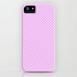 Tiny Paw Prints Pretty Pink Pattern iPhone Case