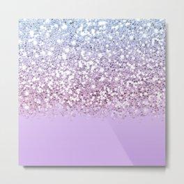 Sparkly Unicorn Lilac Glitter Ombre Metal Print