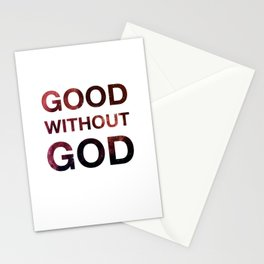 Good without God - Space Stationery Cards