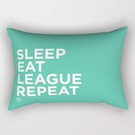 Eat League Sleep Repeat Rectangular Pillow