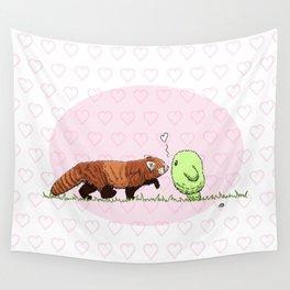 Red Panda Fluff Wall Tapestry