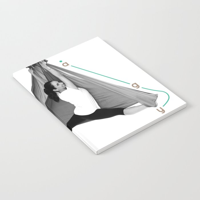 AntiGravity Butterfly Pose Notebook