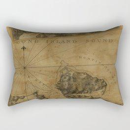 Map Of Oyster Bay 1778 Rectangular Pillow