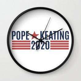 Pope Keating 2020 Wall Clock