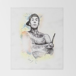 Travis Barker Throw Blanket