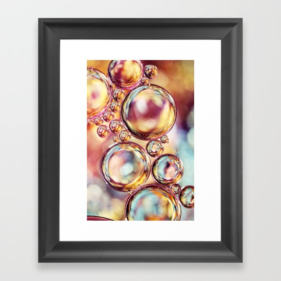 Bokeh Sparkles Bubble Abstract Framed Art Print