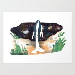 mermaid no more Art Print