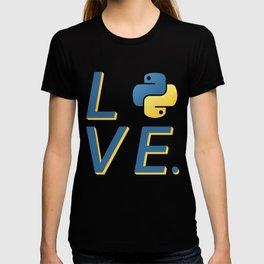 Python Love for Python Programmers Sticker T-shirt