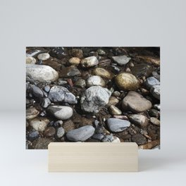 Cobblestones Of Big Sur River Mini Art Print