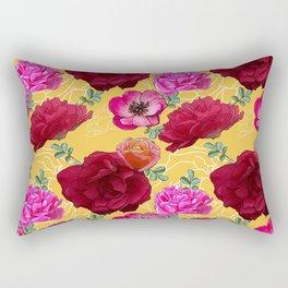 Golden garden Rectangular Pillow