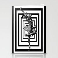 ballerina Stationery Cards featuring  Ballerina   by Saundra Myles
