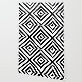 Angled Stripes Wallpaper