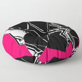 Black and White Geode Floor Pillow
