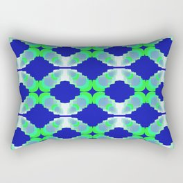 rings of chains on blue background Rectangular Pillow