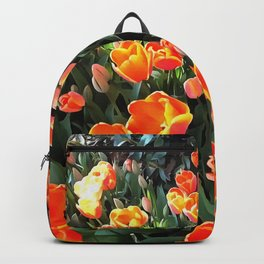 Red Tulips of Istanbul Backpack