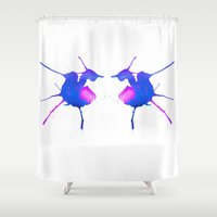 fairies Shower Curtains featuring Fairies by What do YOU see?