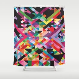 Geometric Kaos Shower Curtain