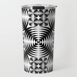Geometric damask pattern Travel Mug
