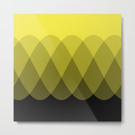 Yellow Ombre Signal Metal Print