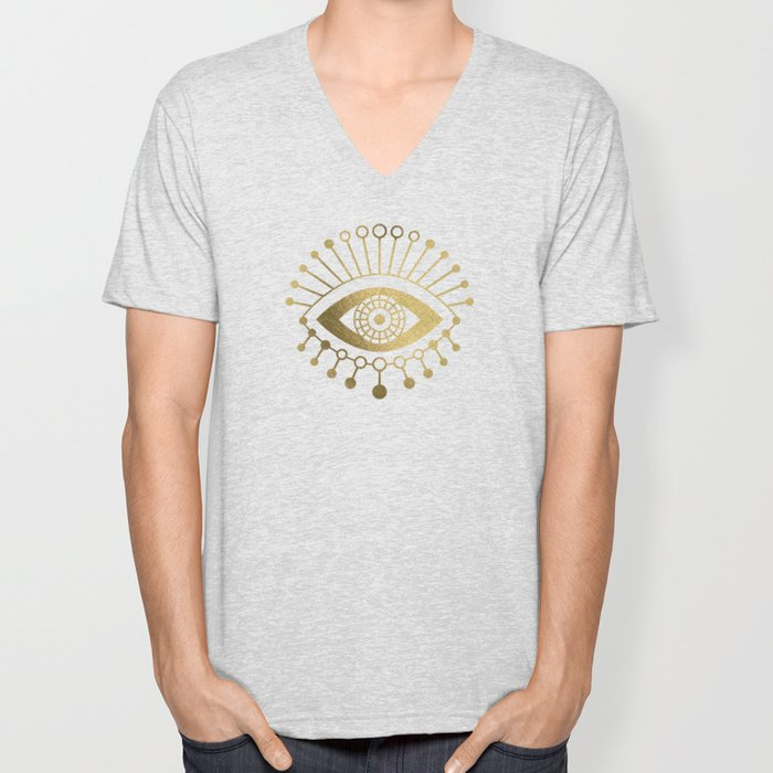 Evil Eyes – Gold Palette Unisex V-Neck