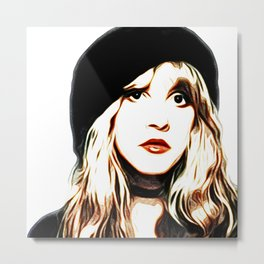 Stevie Nicks - Rhiannon - Pop Art Metal Print