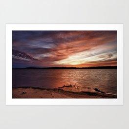 Cotile Sunset_3 Art Print