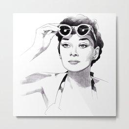 Audrey Hepburn - Summer girl Metal Print
