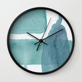 Blue Vibrance Abstract Painting Wall Clock