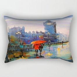 Rain in London Rectangular Pillow